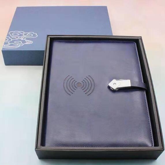 8000毫安无线充电记事笔记本充电宝移动电源笔记本商务礼品定制