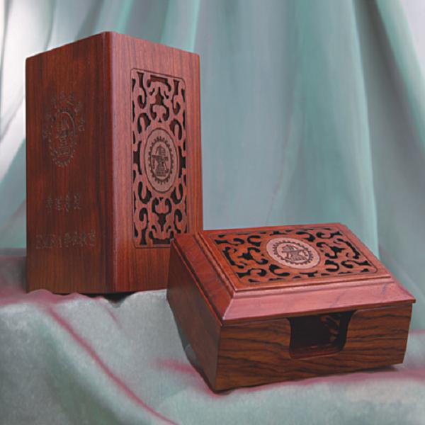 红木工艺套装 镂空文具二件套 商务礼品 红木精品套装