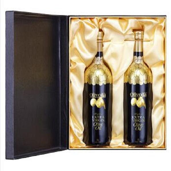 欧丽薇兰高多酚金橄榄特级初榨橄榄油1Lx2礼盒装食用油团购年货礼品 节日礼品 食品礼盒