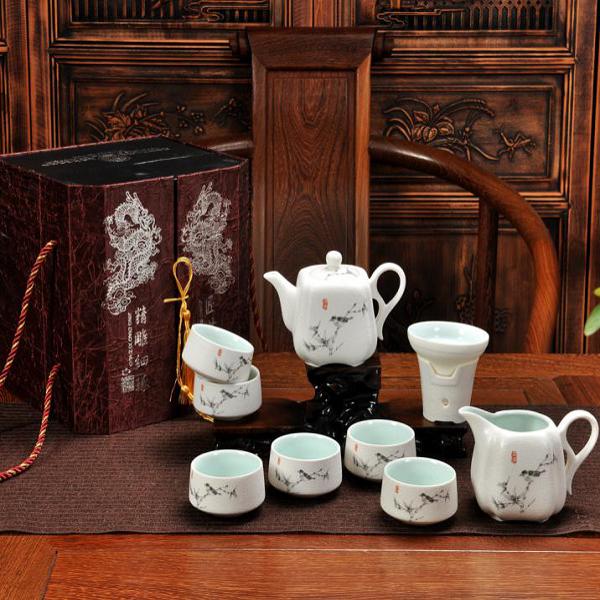 茶具套装随手礼 定制logo 雪花有茶具套装 活动促销 商务礼品