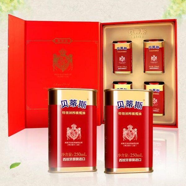 贝蒂斯(BETIS)橄榄油礼盒尊享版 西班牙原装进口 团购年货礼品 节日礼品 橄榄油礼盒装