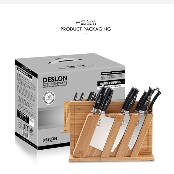 德世朗(DESLON)钼钒钢刀具10件套莱茵至尊系列 E-LY-TZ001-10C